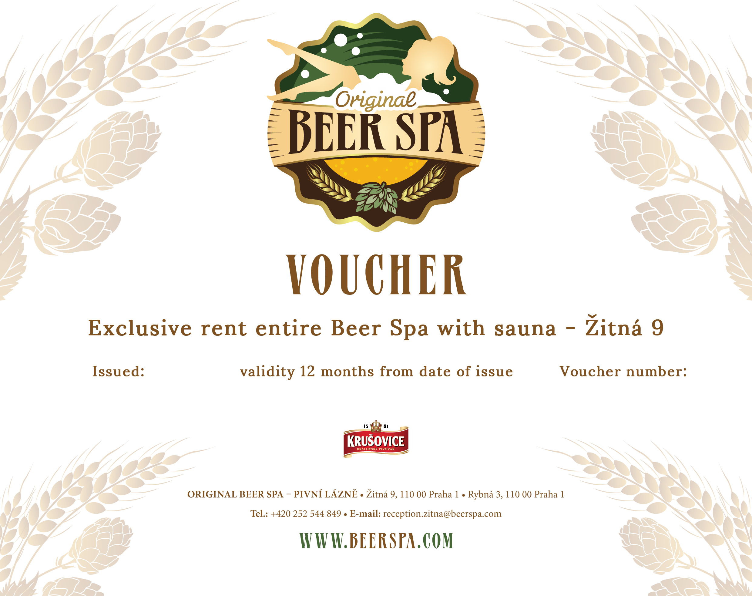 Exclusive rent entire Beer Spa with sauna - Žitná 9