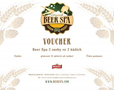 Beer Spa 2 osoby ve 2 kádích